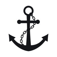 Chain And Anchor Wall Sticker Nautical Wall Decal Art