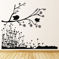 Birds On Branch Wall Stickers Nature Wall Art