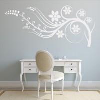 Flower Petal Embellishment Wall Sticker Floral Wall Art