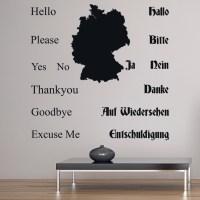 German Language Basics Wall Sticker Educational Wall Decal ...