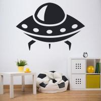 Alien Space Ship Wall Sticker Space Wall Art