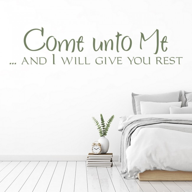 Wallpaper For Girls Room Uk Come Unto Me And I Will Give You Rest Wall Stickers