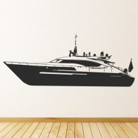 Motor Boat Yacht Wall Sticker Boat Wall Art