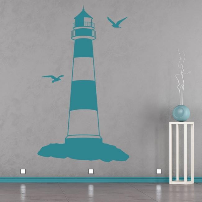 Wallpaper For Girls Room Uk Lighthouse Wall Sticker Beach Nautical Wall Decal Bathroom