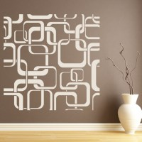 Square Patterns Wall Sticker Patterned Wall Art