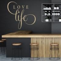 Love Life Wall Sticker Text Wall Art