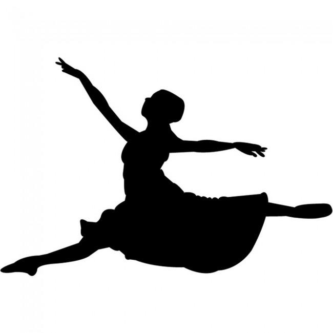 Wallpaper For Girls Room Uk Leaping Ballet Dancer Wall Sticker Dancing Wall Art