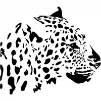 Leopard Profile Wall Sticker Animal Art Wall Sticker