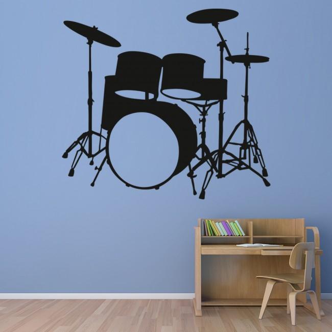 Vans Wallpaper For Girls Drum Kit Wall Sticker Instruments Music Wall Decal Kids