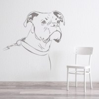 Boxer Dog Wall Sticker Pet Animals Wall Decal Canine Kids ...