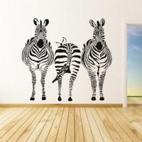 Group Zebra Wall Sticker Safari Animals Wall Decal Kitchen ...