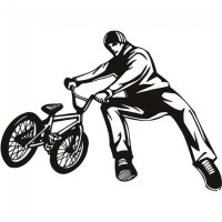 BMX Tricks Wall Sticker Bike Wall Art