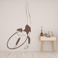 Hoop Gymnast Wall Sticker Gymnastics Wall Art