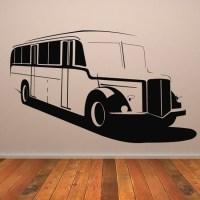 Vintage Bus Wall Sticker Vehicle Wall Art