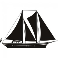 Ship Wall Sticker Sail Boat Transport Wall Decal Bathroom ...