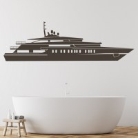 Large Yacht Wall Sticker Boat Wall Sticker