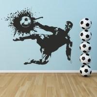Footballer Shoot Wall Sticker Sports Wall Art