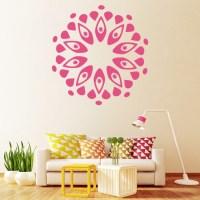 Circular Petal Wall Sticker Floral Wall Art