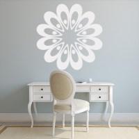 Retro Petal Wall Sticker Floral Wall Art