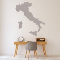 Italy Wall Sticker Educational Map Wall Decal School ...