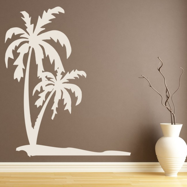 Wallpaper For Girls Room Uk Palm Trees Wall Sticker Tropical Beach Wall Decal Bathroom