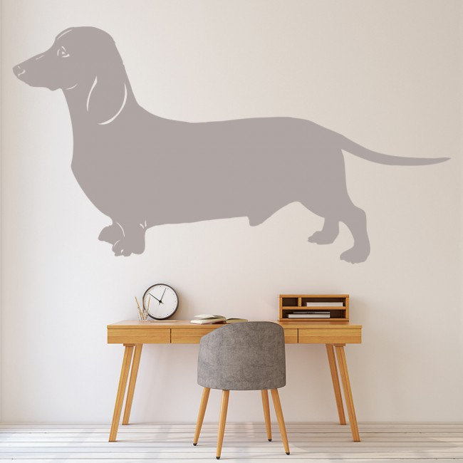 Wallpaper For Girls Room Uk Dachshund Dog Wall Sticker Pet Animals Wall Decal Canine
