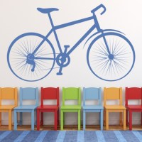 Bicycle Wall Sticker Classic Bike Wall Decal Cycling ...