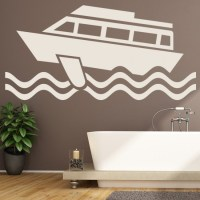 Ferry Boat Wall Sticker Ocean Transport Wall Decal Kids ...