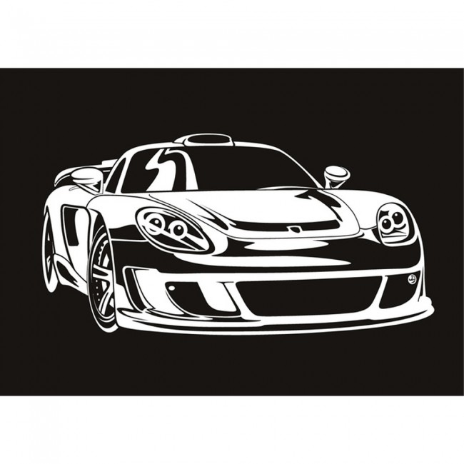 Race Car Bedroom Wallpaper Murals Race Car In Frame Wall Sticker Porsche Carrera Wall Decal