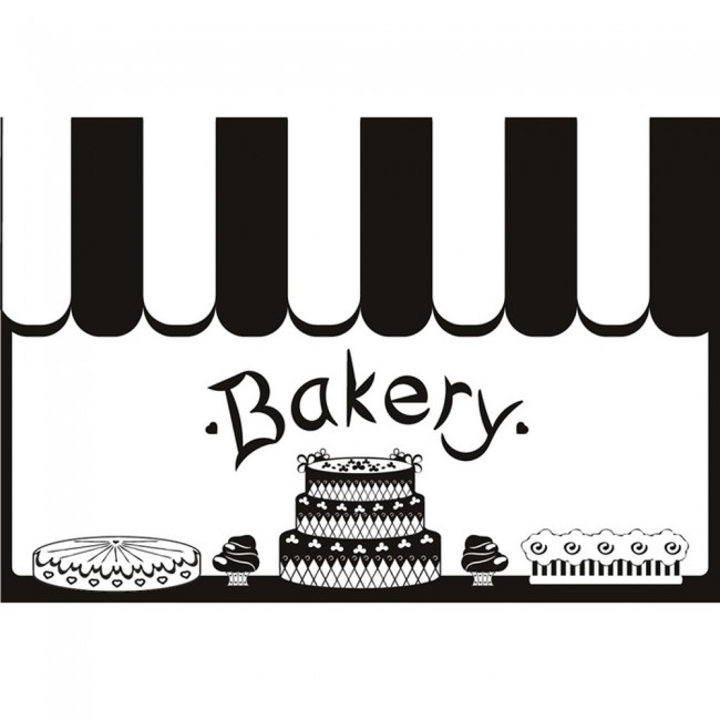 Wallpaper For Girls Room Uk Bakery Shop Wall Sticker Kitchen Wall Decal Cafe Shop Home