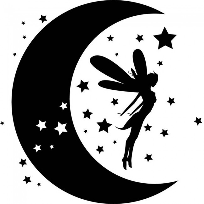 Wallpaper For Ten Girl Room Fairy Dreams Wall Sticker Moon Stars Wall Decal Girls