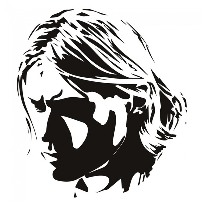 Wallpaper For Girls Room Uk Kurt Cobain Wall Sticker Rock Music Nirvana Wall Decal