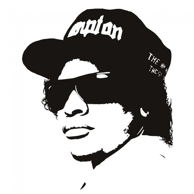 Wallpaper For Girls Room Uk Easy E Rapper Wall Sticker Nwa Rap Music Wall Decal Icon