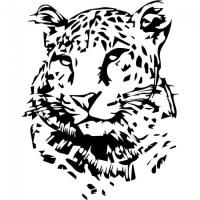 Leopard Portrait Wall Sticker Animal Wall Art