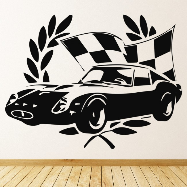 Race Car Bedroom Wallpaper Murals Winning Race Car Wall Sticker Car Wall Art