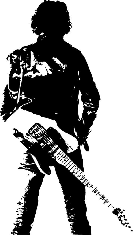 Music Quotes Wallpaper Guitar Bruce Springsteen Guitar Singer Wall Sticker