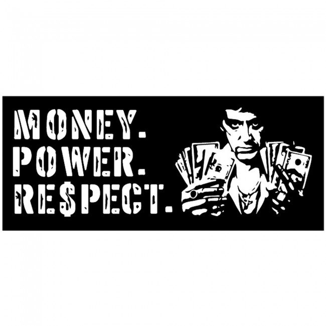 Swimming Wallpaper Quotes Money Power Respect Scarface Quote Wall Sticker
