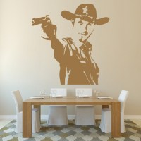 Rick Grimes Gun Wall Sticker The Walking Dead Wall Art