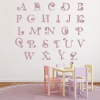 Swirl Alphabet Wall Sticker Educational Wall Art