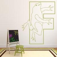 Frog Alphabet Wall Sticker Educational Wall Art
