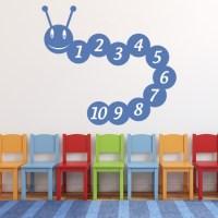 Number Caterpillar Wall Sticker Educational Wall Art