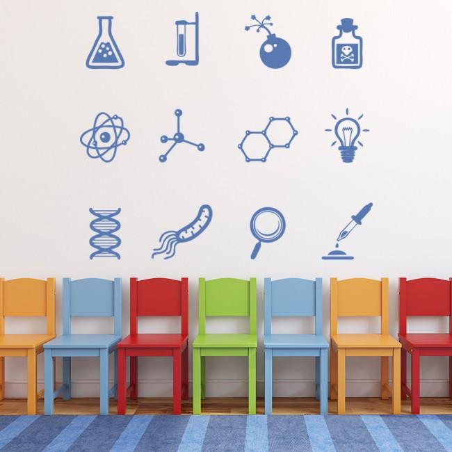 All Cars Symbols Wallpaper Chemistry Symbols Wall Sticker Set Science Wall Decal