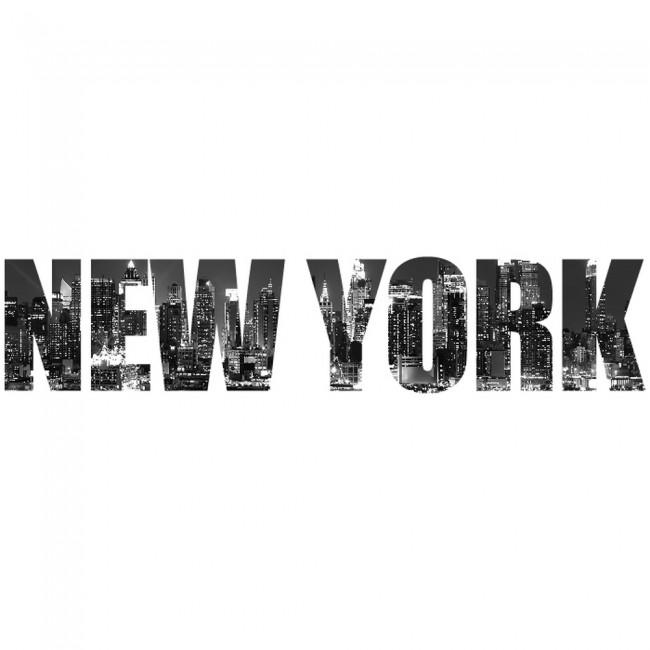 Wallpaper For Girls Room Uk New York Skyline Text Digital Wall Art Wall Sticker