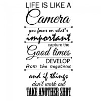 Life Is Like A Camera Wall Sticker Quotes Wall Decal ...