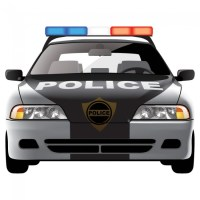 Police Car Wall Sticker Emergency Vehicles Wall Decal Boys ...