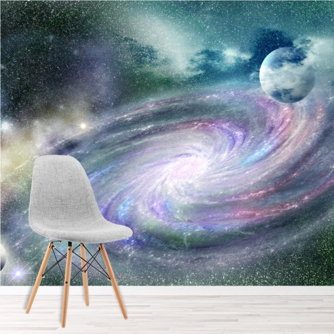 Girls And Trucks Wallpaper Purple Galaxy Spiral Wall Mural Space Nebula Photo