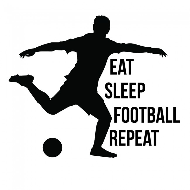 Swimming Wallpaper Quotes Eat Sleep Football Repeat Wall Sticker Sports Quote Wall