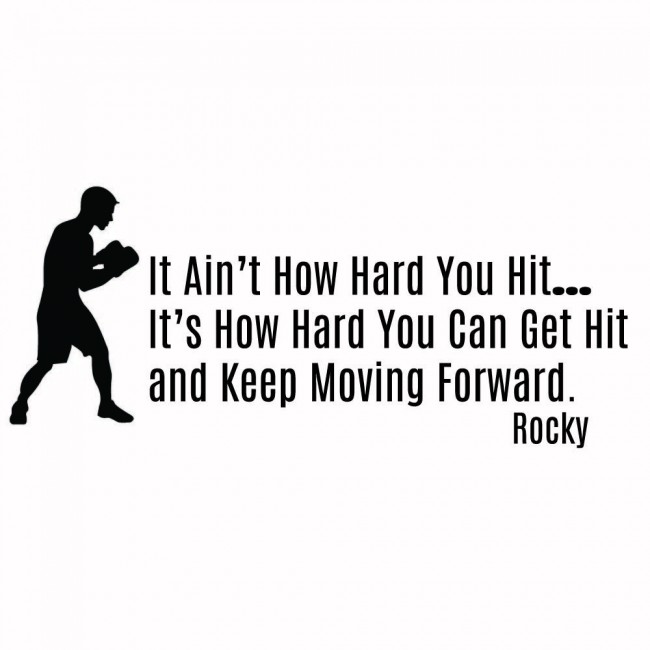 Wallpaper For Girls Room Uk Rocky Balboa Wall Sticker Keep Moving Forward Wall Decal