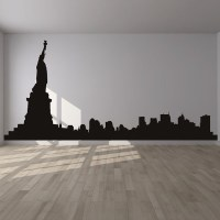 New York Wall Sticker City Skyline Wall Decal Bedroom ...