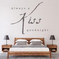 Always A Kiss Goodnight Wall Sticker Love Quote Wall Art